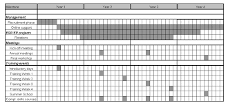 Gantt Chart For Training Program Eu Project Training And Work Packages