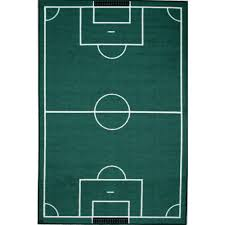 la rug fun time soccerfield multi colored 3 ft x 5 ft area rug