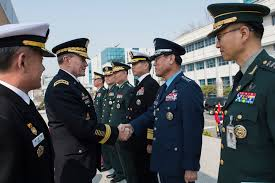 file u s army gen martin e dempsey second from left chairman  martin e dempsey second from left chairman of the joint chiefs of staff meets south korean senior military leadership after an honor ceremony at