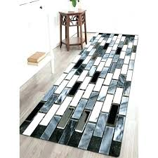 black and white modern rug ceramic tile pattern water absorption area rug in black black and black and white modern rug