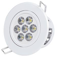 7 watt led recessed light fixture aimable