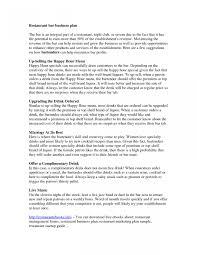 Restaurant proposal pdf