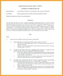 Introduction Speech Sample Graduation Example Outline Template Word