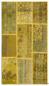 yellow over dyed patchwork rug x 4 turkish rugs ikea