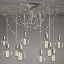 multi light pendant lighting. Gracefully White 10 Light Industrial Style Multi LED Pendant Swag Lighting S