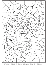 Color By Number Coloring Pages Difficult Printable Coloring Page