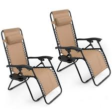 com oshion 1 pair zero gravity chairs black lounge patio anti gravity chair with cup holder