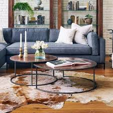 catalina copper clad round nesting coffee tables zin home intended for idea 11