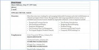 Resume Skills For Retail Retail Sales Resume Skills Retail Sales
