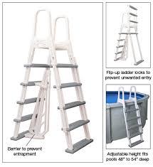 Above ground pool ladder Vinyl Pool Adjustable Frame Ladder Mega Pool And Spa Adjustable Heavy Duty Frame Aboveground Swimming Pool Ladder At