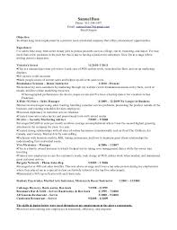Barback Resume Resume Templates