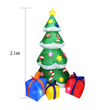 Us 51 37 20 Off 2 1 M Yard Inflatable Christmas Tree Led Home Decoration Outdoor Holiday Sturdy Gas Model Kids Gift Party Toy Indoor In Pendant