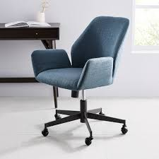 West elm office chair Industrial Storage Mini West Elm Aluna Upholstered Office Chair West Elm