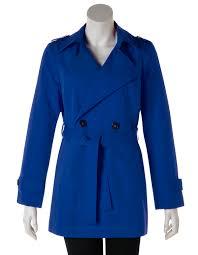 indigo belted trench coat indigo blue hi res