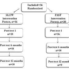 Flow Chart From Baseline To 12 Months Postintervention