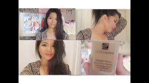 fall makeup tutorial ft estee lauder double wear foundation elasianfashionbeauty