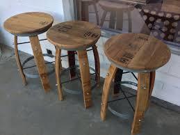 vintage whiskey barrel bar stools