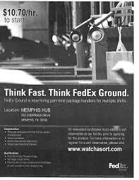 Fedex Sort Observation Fedex Ground Package Handlers Job Career News From The Memphis