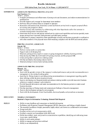 Pricing Specialist Sample Resume Associate Pricing Analyst Resume Samples Velvet Jobs 21