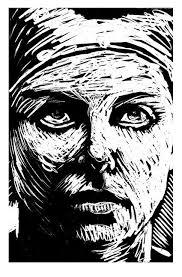 awcomix's image   Woodblock printmaking, Linocut art, Linocut prints