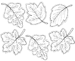 Leaves Template For Coloring Or Other