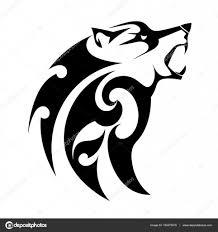 татуировка зло абстрактные векторные татуировки злой волк на белом