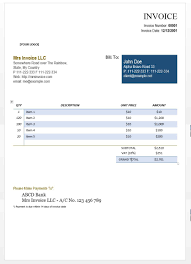 Word Document Invoice Template Cool Design Consulting Invoice