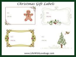 FREE Christmas Gift Tag/Label Printable