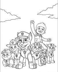 Free Paw Patrol Coloring Pages Nick Jr Printable