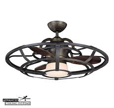 ceiling fan enclosed. caged ceiling fans - enclosed fan with light c