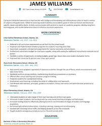 Elementary Teacher Resume Sample 60 elementary school teacher resume penn working papers 60