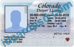 Psd Drivers Colorado Photoshop - Usa Driver License Template Colarado Id Templates Card Adobe