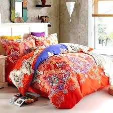 modern print duvet covers orange red and royal blue western tribal print luxury paisley and modern
