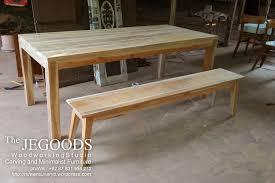 the jegoods woodworking studio furniture indonesia design and produce teak minimalist dining table indonesia furniture