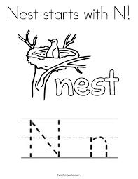 preschool letter n words worksheets for all and share happy n coloring page