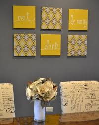 yellow and gray wall decor fresh eat drink be merry yellow and gray wall art