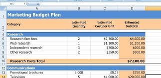 Marketing Budget Template Excel Keyboardgxgaming Club