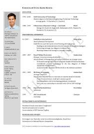 resume and cv examples free cv template curriculum vitae template