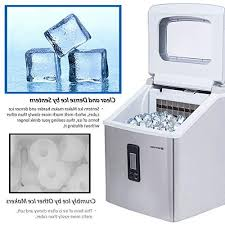 sentern clear ice steel countertop ice making storage day cubes actual ice clear