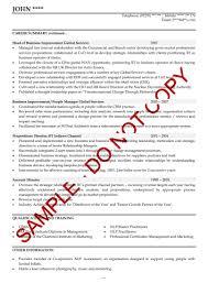 Template Sample Executive Curriculum Vitae Resume Templates