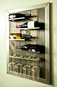 wall wine glass holder racks mounted wood best rack target