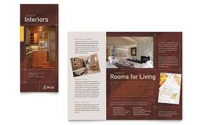 Interior Design Brochure Template Fascinating Home Remodeling Tri Fold Brochure Template Design