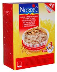 Каша <b>Нордик</b> (<b>Nordic</b>) - <b>4-х</b> злаковые <b>хлопья</b>, 600 гр.