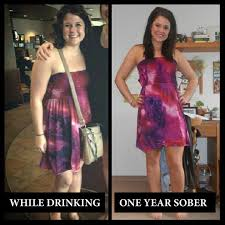 before and after weight loss photos of people who quit drinking 1 year sober