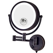 wall mount vanity mirror. gurun 8.5 inch led lighted wall mount makeup mirror vanity