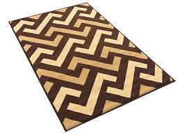 3 x 5 rubber backed non slip brown beige chocolate color