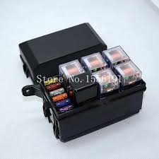 6 way auto fuse box assembly with 40a 5pcs 5pin 80a relay and automotive fuse box replacement at Automotive Fuse Box