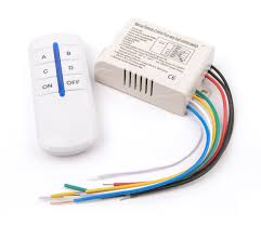 Wireless 4 Channels ON OFF 220V Remote Control Switch Digital