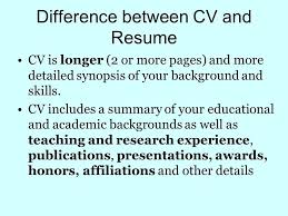 Difference Between Cv And Resume Resume Difference Difference Cv Gorgeous Difference Between A Cv And A Resume