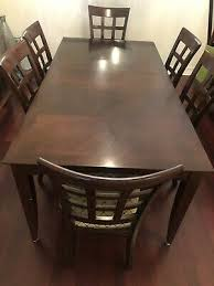 8 piece extension dining table set